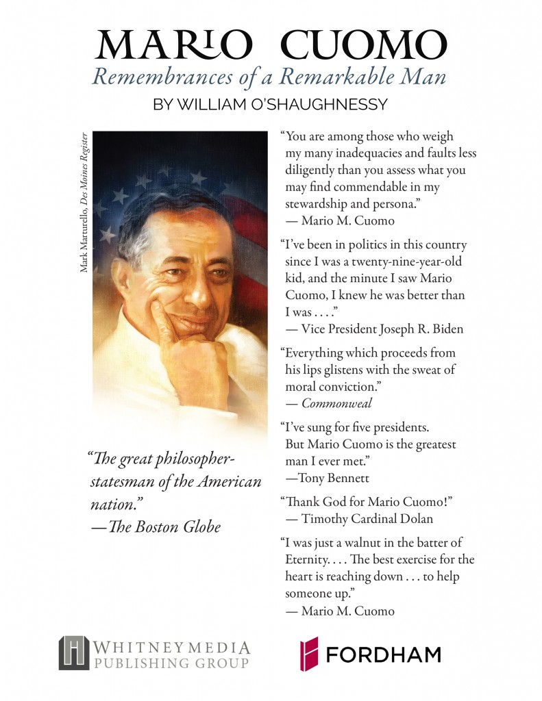 Back Cover Of Mario Cuomo Remembrances of a Remarkable Man